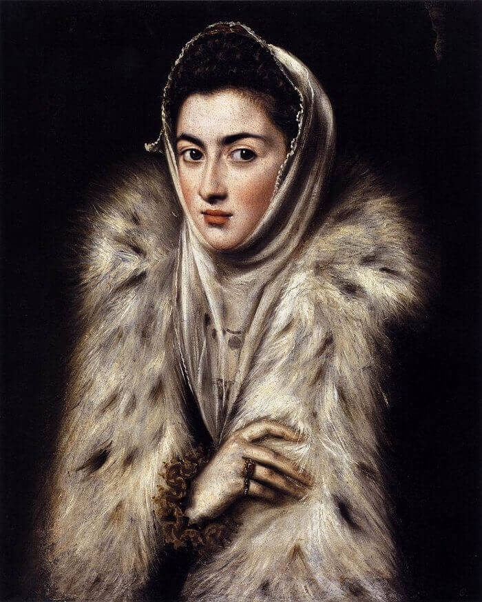 A Lady in a Fur Wrap, 1577-80 by El Greco