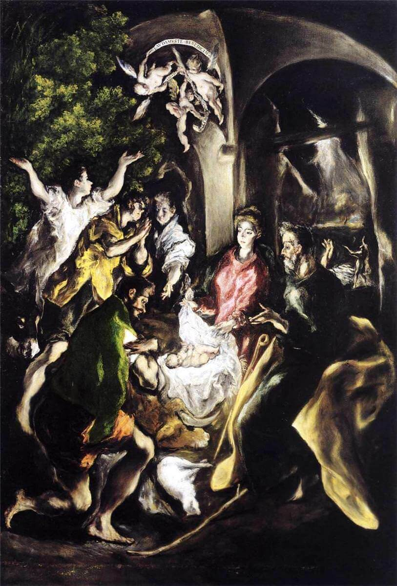 Adoration of the shepherds - by El Greco