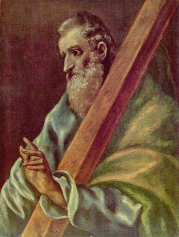 Apostle st andrew - by El Greco
