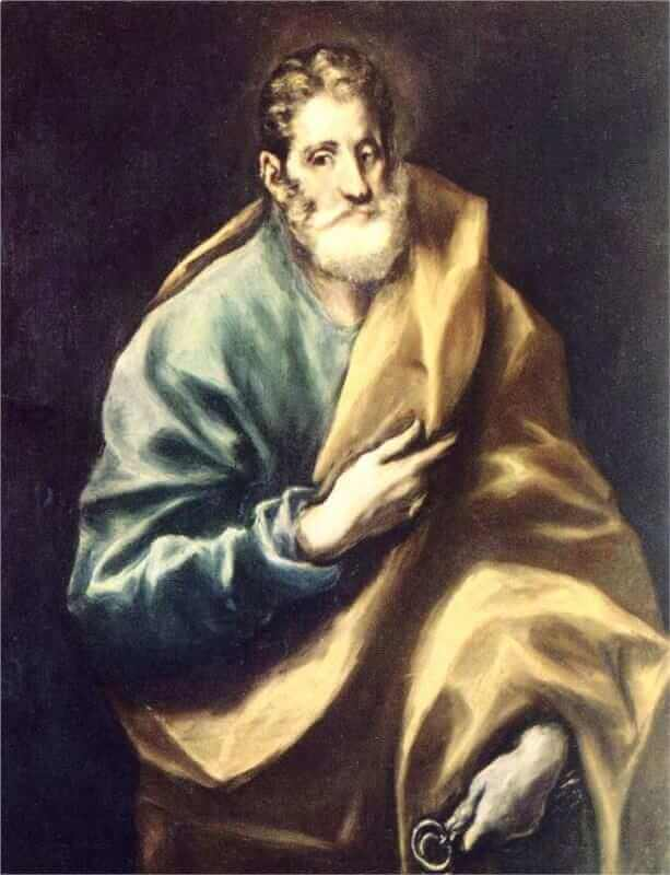 Apostle st peter - by El Greco