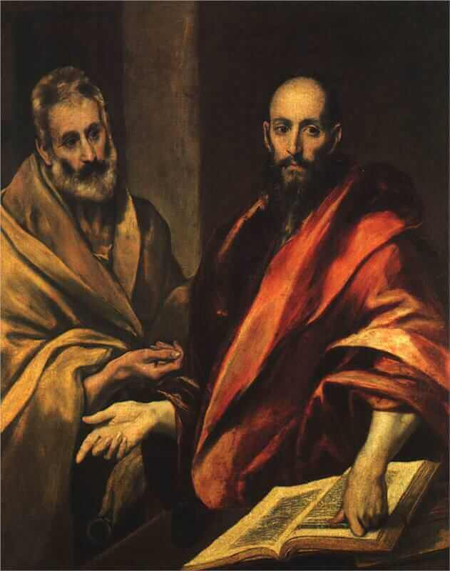 Apostles peter and paul - by El Greco
