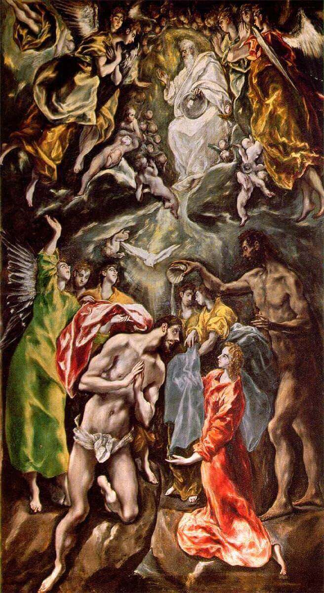 Baptism of christ - by El Greco