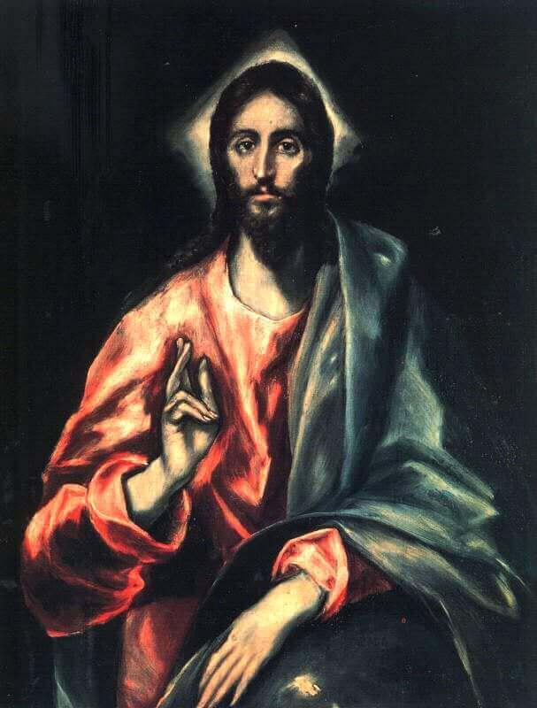 Christ as saviour - by El Greco