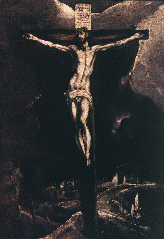 Christ on the cross - by El Greco