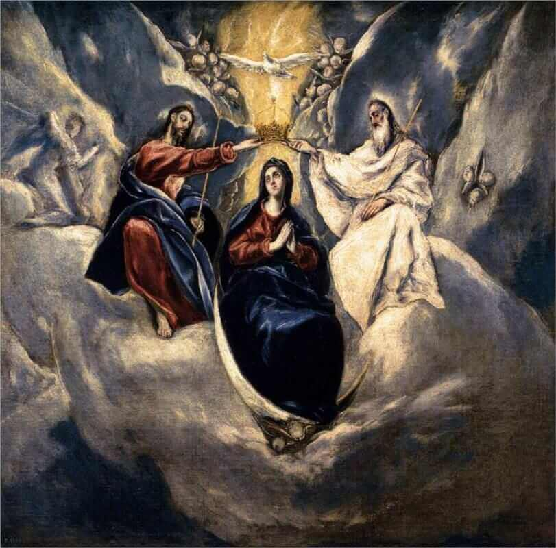 Coronation of the virgin - by El Greco