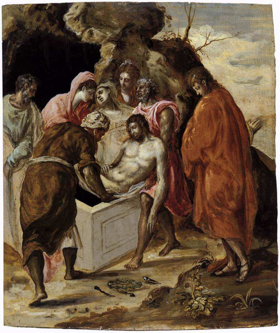 Deposition in the tomb - by El Greco