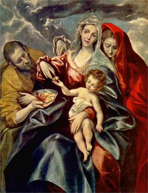 Holy family - by El Greco