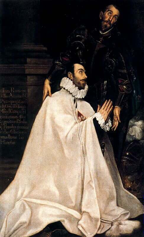 Julian romero de las azanas and his patron st julian - by El Greco