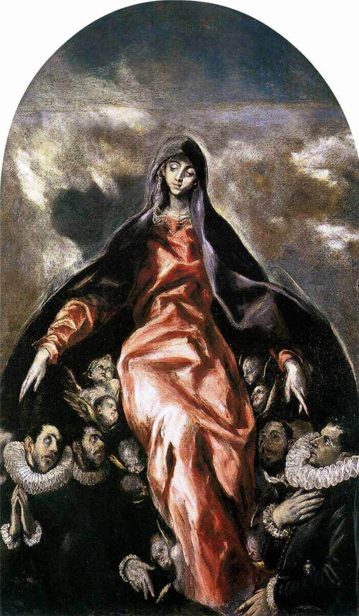 Madonna of charity - by El Greco