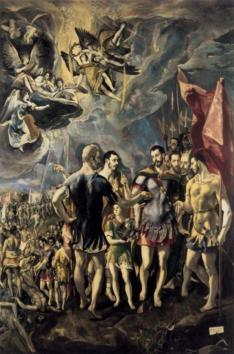 Martyrdom of st maurice and his legions - by El Greco