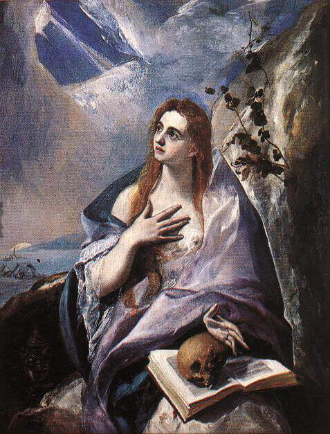 Mary magdalene in penitence - by El Greco