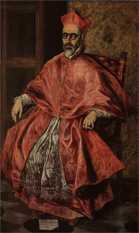 Portrait of a cardinal - by El Greco