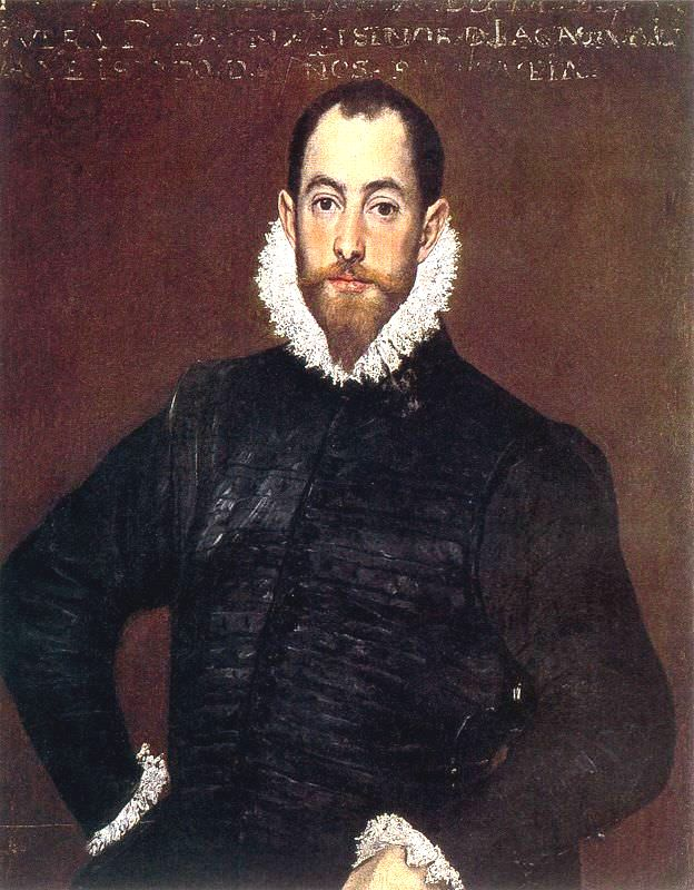 Portrait of a gentleman from casa de leiva - by El Greco