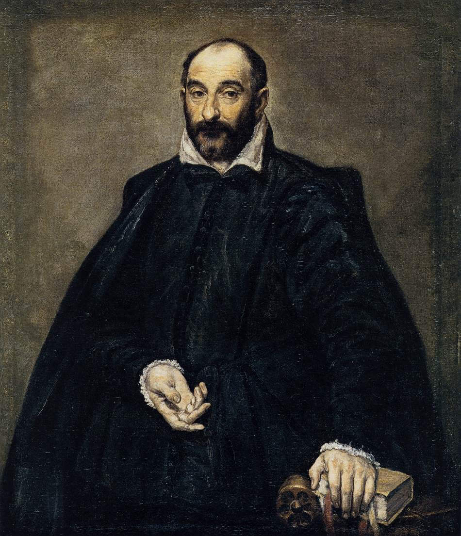 Portrait of a man andrea palladio - by El Greco