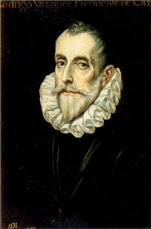 Portrait of don rodrigo vasquez - by El Greco