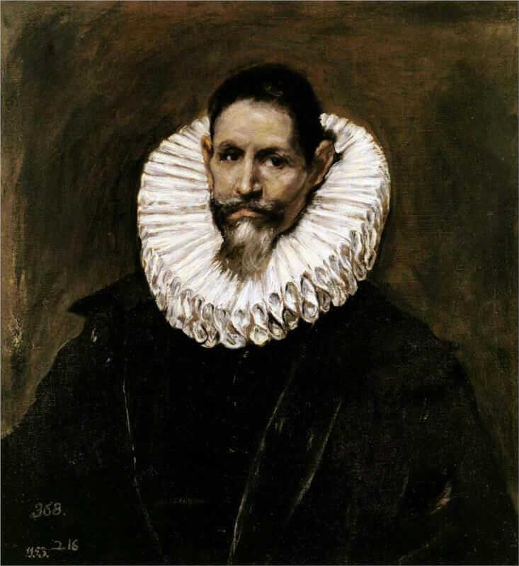 Portrait of jeronimo de cevallos - by El Greco