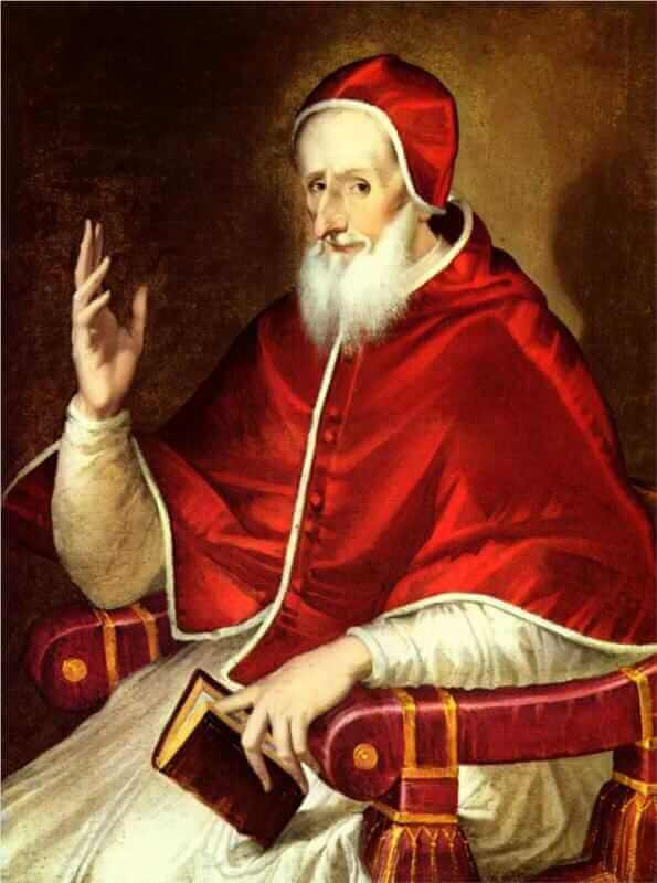 Portrait of pope pius v - by El Greco