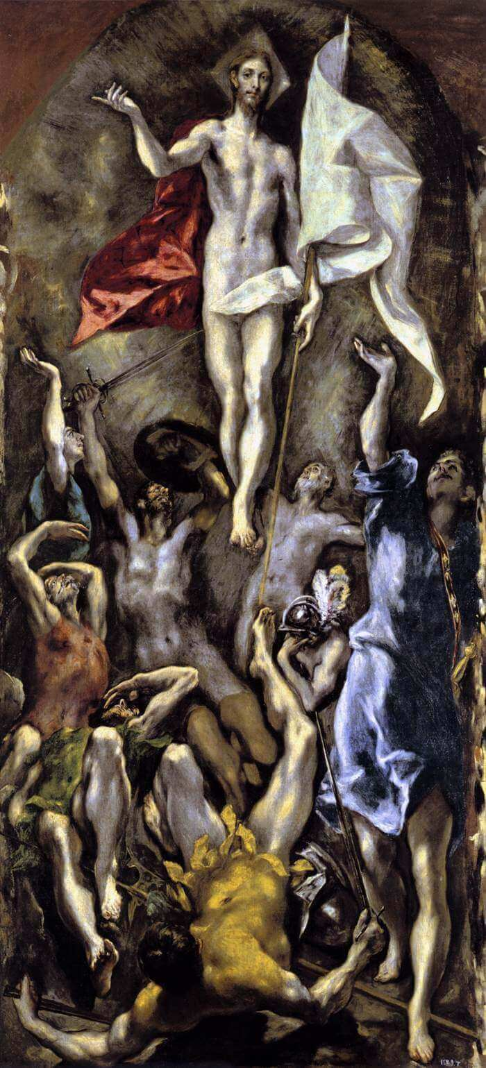 Resurrection, 1584-94 by El Greco by El Greco