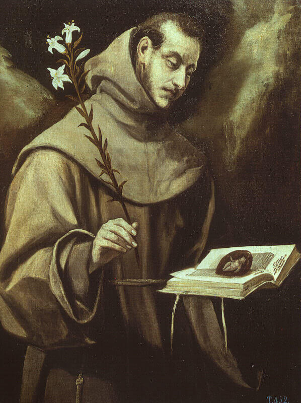 St antony of padua - by El Greco