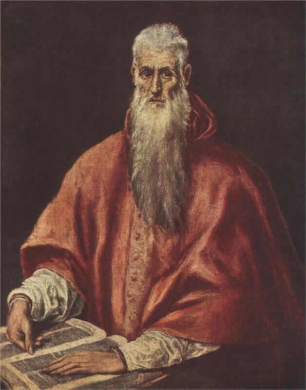 St jerome as cardinal - by El Greco