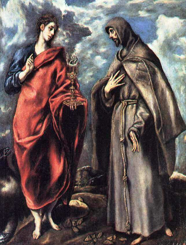 St john the evangelist and st francis - by El Greco
