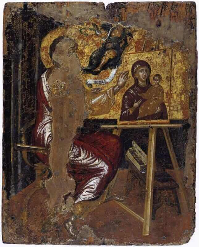 St luke painting the virgin - by El Greco