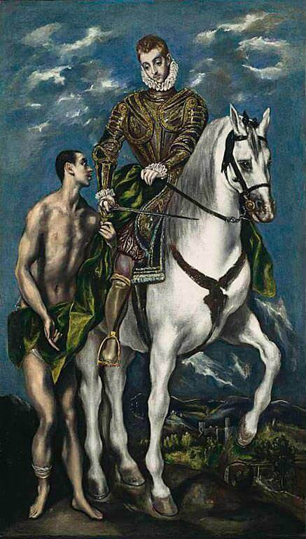 St Martin and the Beggar, 1597-99 by El Greco