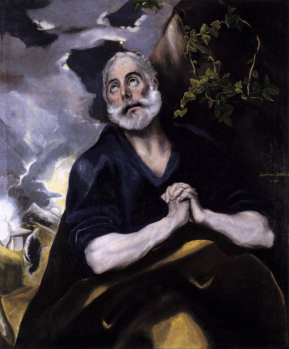 St peter in penitence - by El Greco