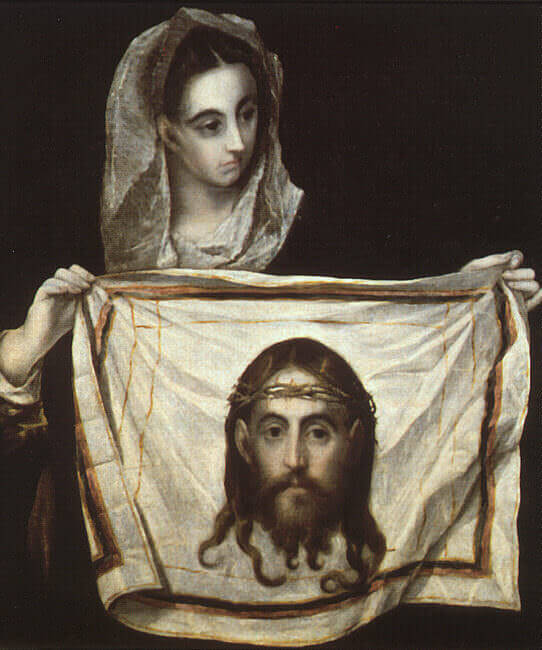 St veronica with the holy shroud - by El Greco
