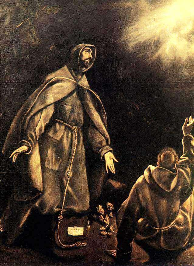 Stigmatisation of st francis - by El Greco