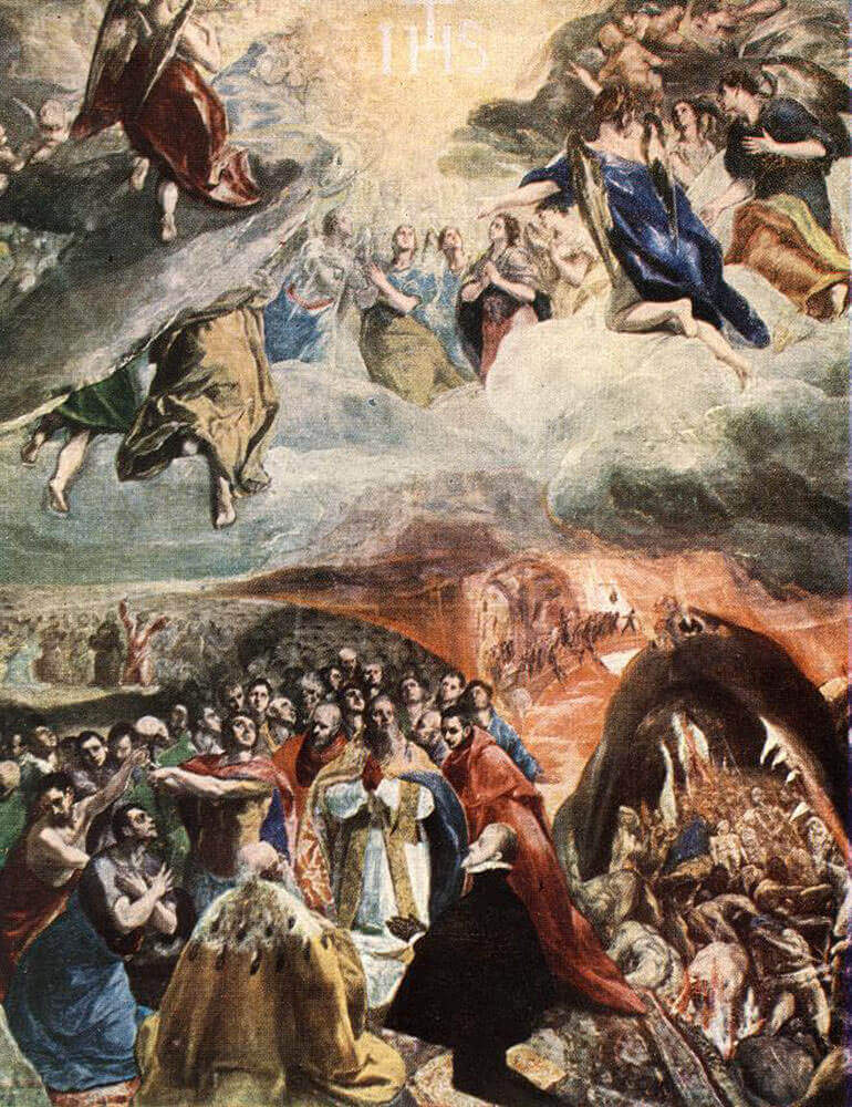 The adoration of the name of jesus - by El Greco