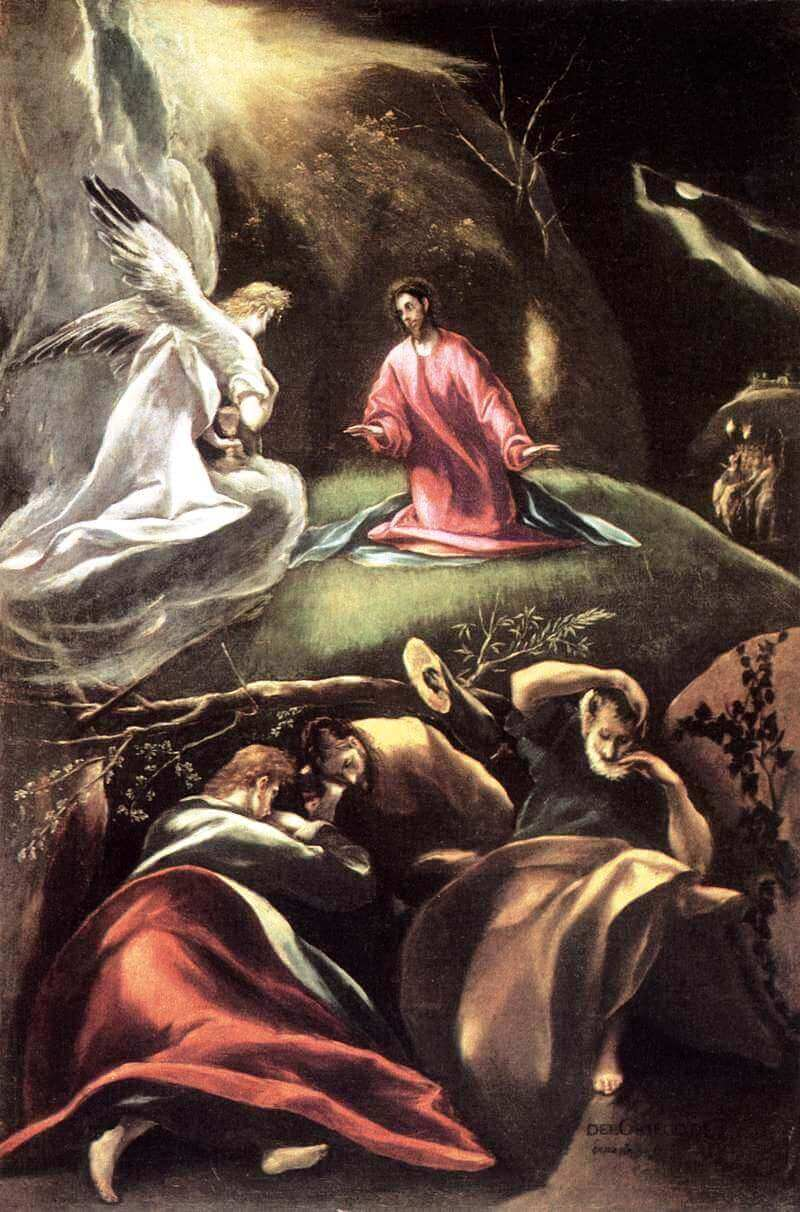 The agony in the garden - by El Greco