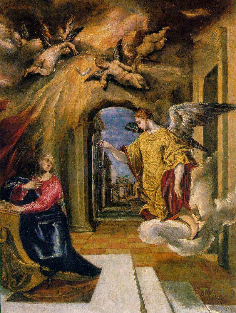 The annunciation - by El Greco