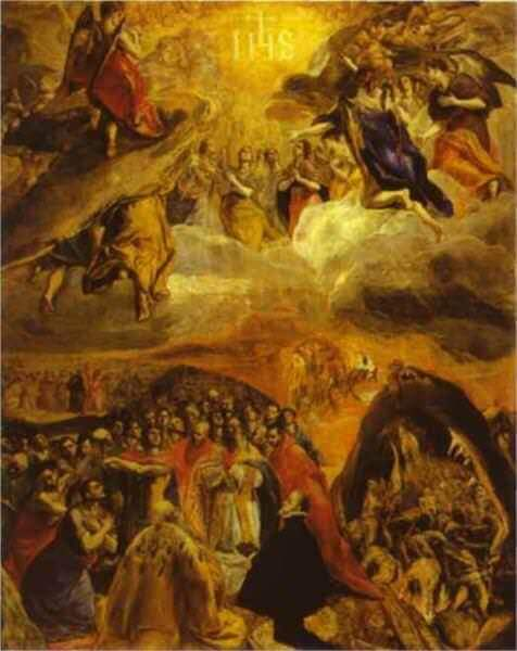 The dream of philip ii - by El Greco