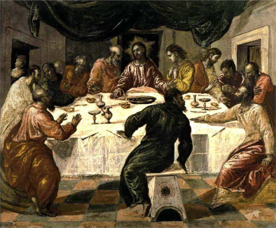 The Last Supper, 1568 - by El Greco
