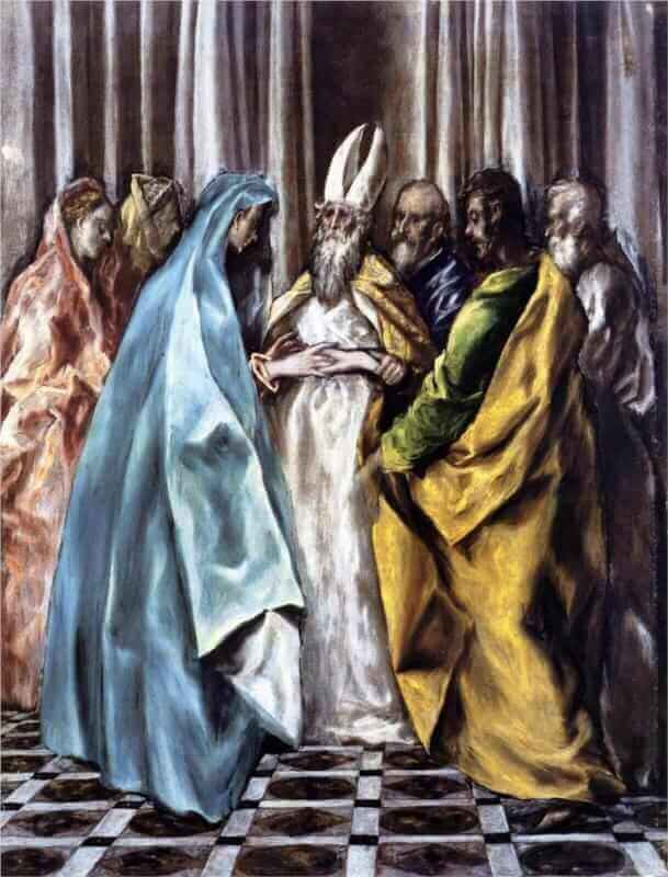 The marriage of the virgin - by El Greco