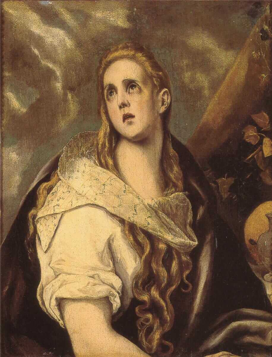 The penitent magdalene - by El Greco
