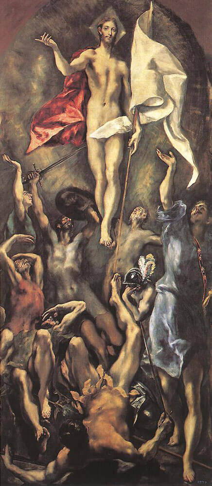 The resurrection - by El Greco