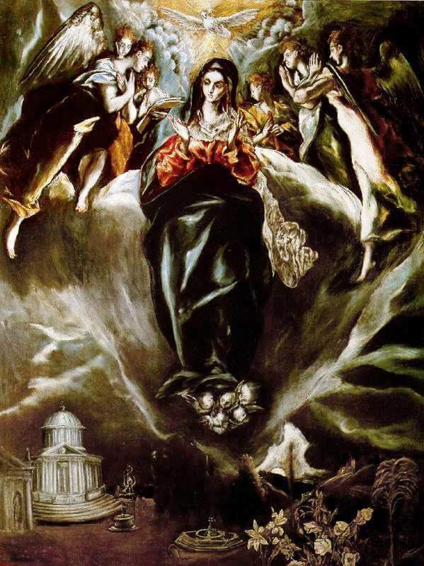 The virgin of the immaculate conception - by El Greco