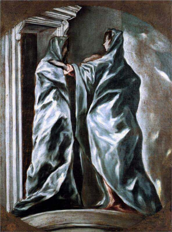 The visitation - by El Greco