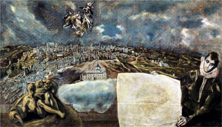 View and plan of toledo - by El Greco