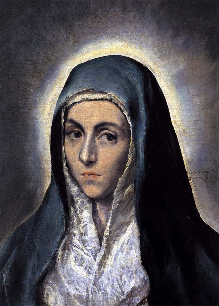 Virgin mary - by El Greco